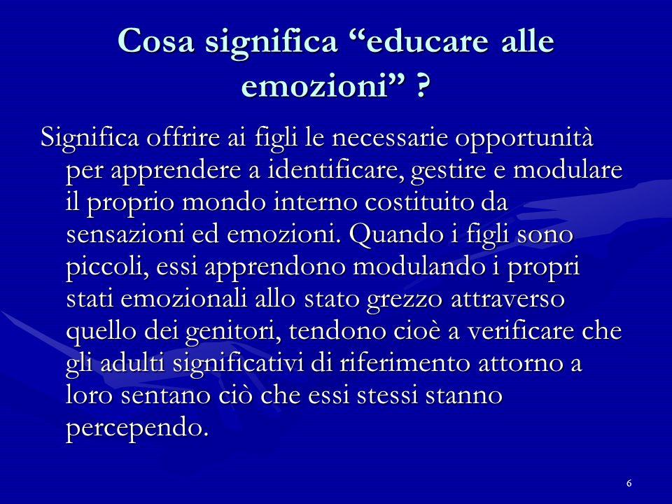 Cosa significa educare alle emozioni
