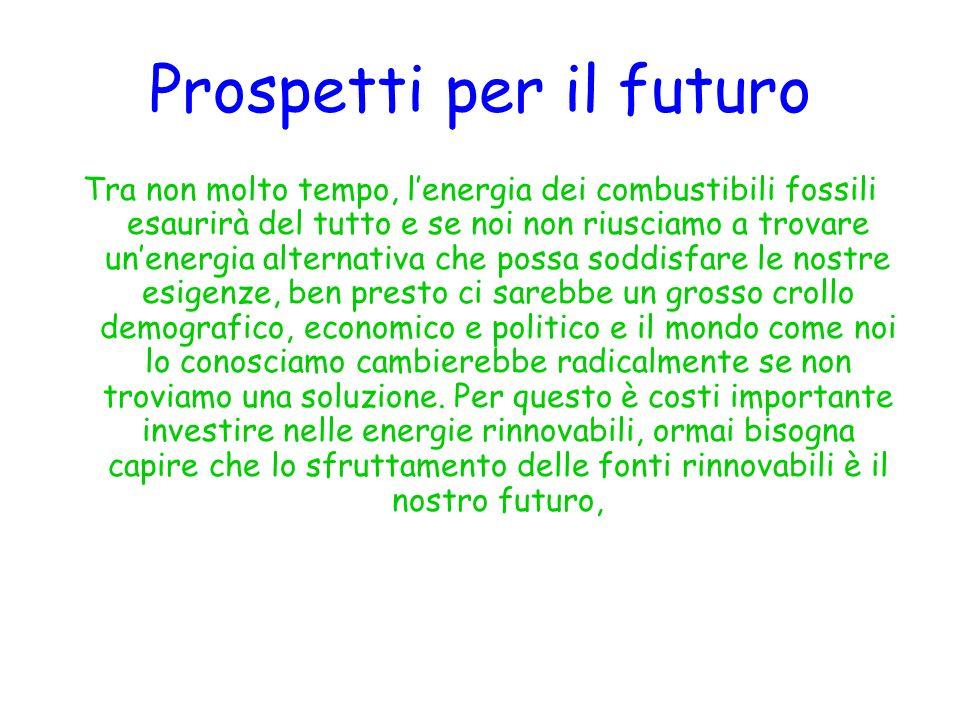 Prospetti per il futuro