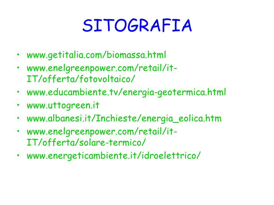 SITOGRAFIA www.getitalia.com/biomassa.html