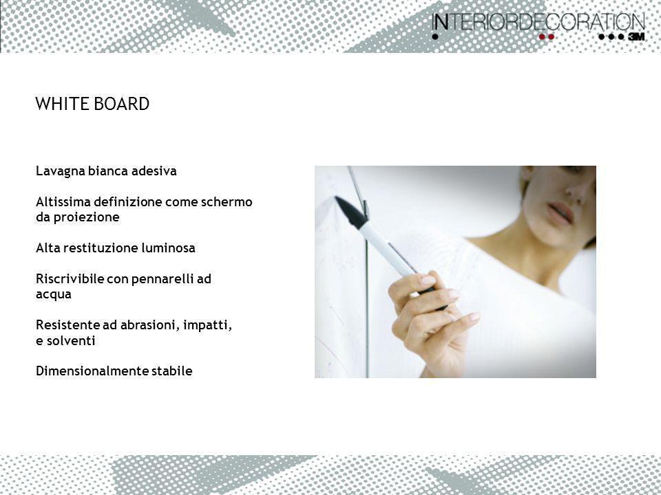 WHITE BOARD Lavagna bianca adesiva Altissima definizione come schermo