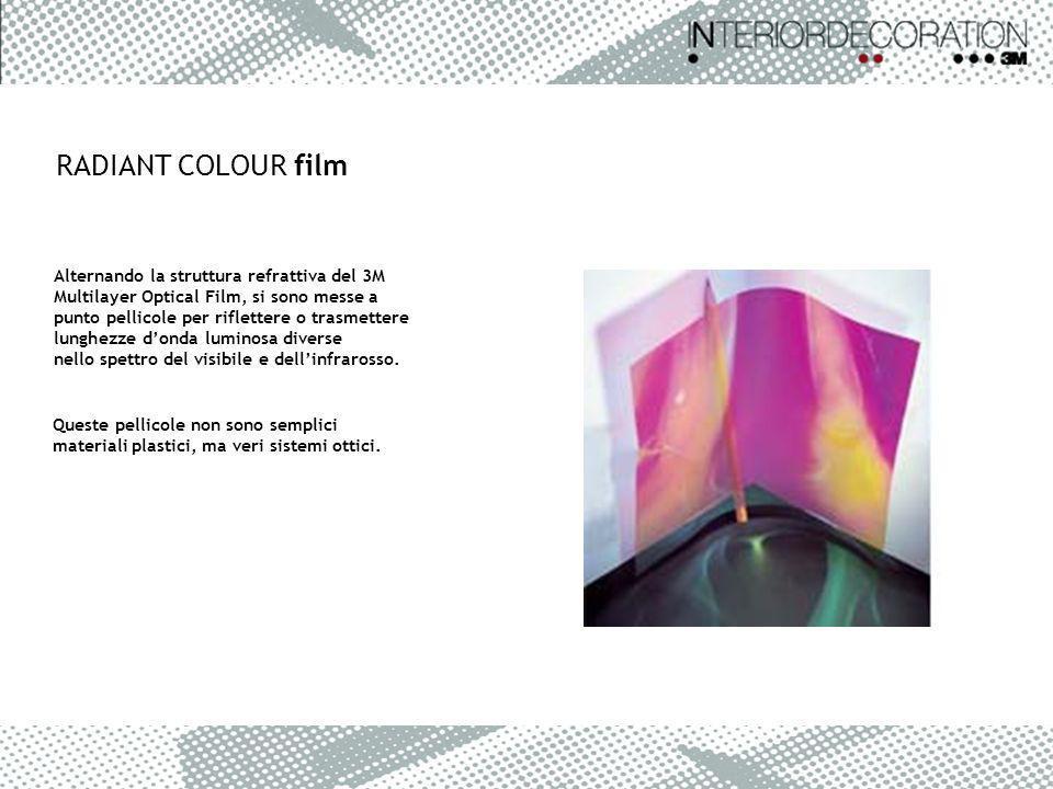 RADIANT COLOUR film Alternando la struttura refrattiva del 3M