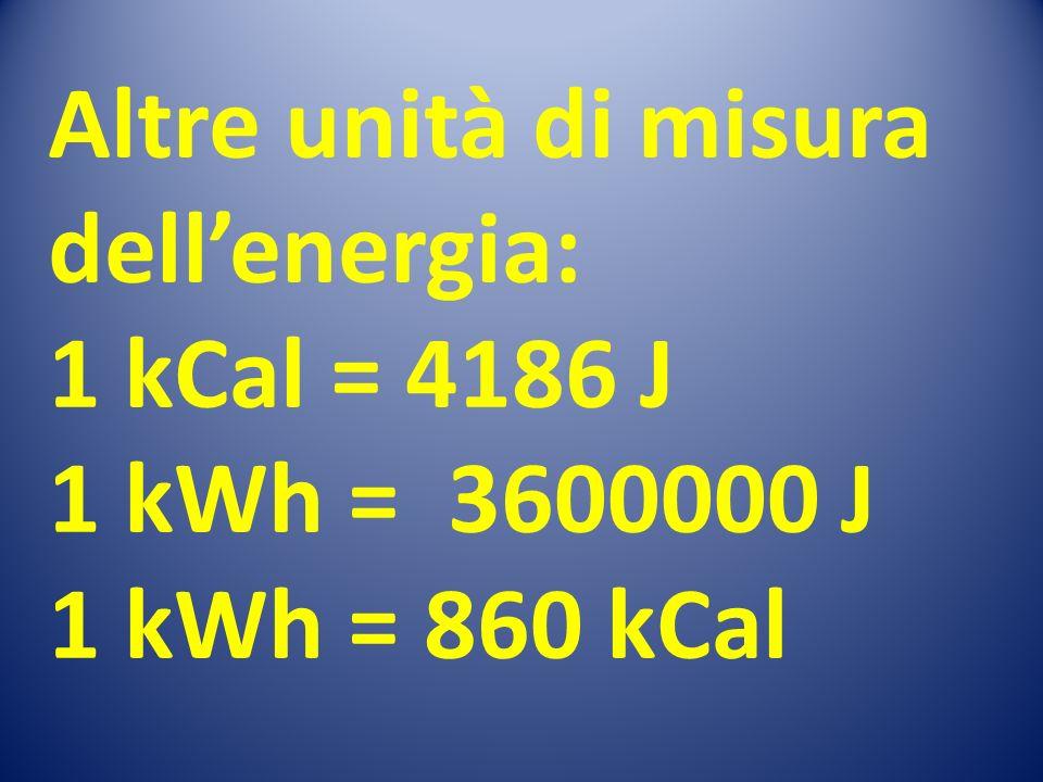 Altre unità di misura dell'energia: