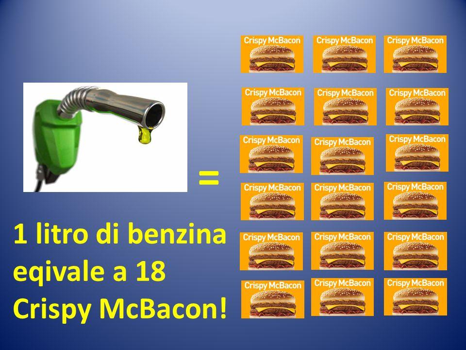 = 1 litro di benzina eqivale a 18 Crispy McBacon!