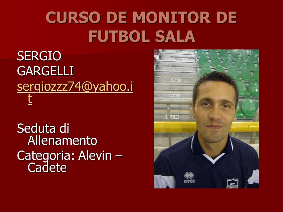 CURSO DE MONITOR DE FUTBOL SALA