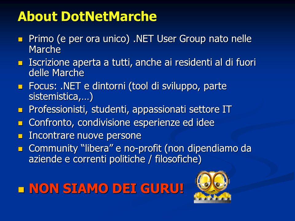 About DotNetMarche NON SIAMO DEI GURU!