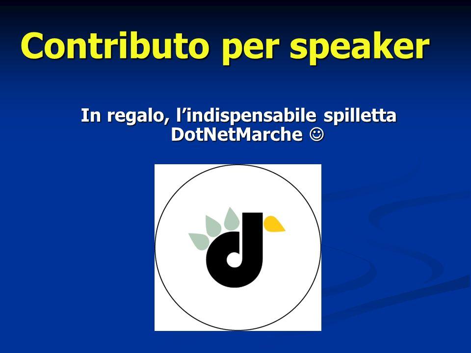 Contributo per speaker