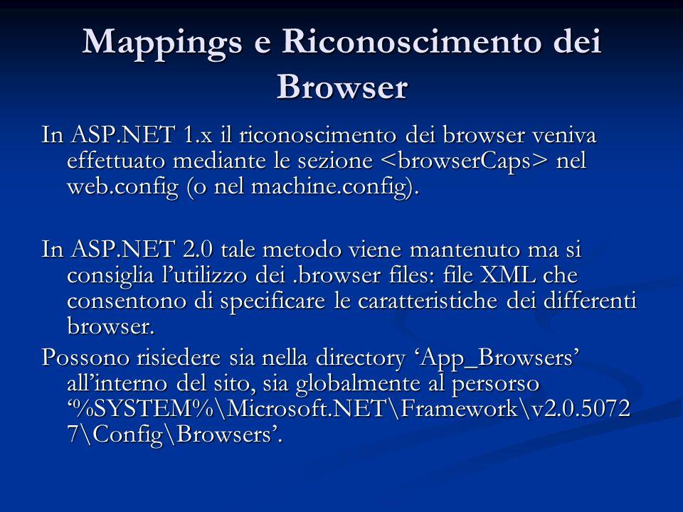 Mappings e Riconoscimento dei Browser