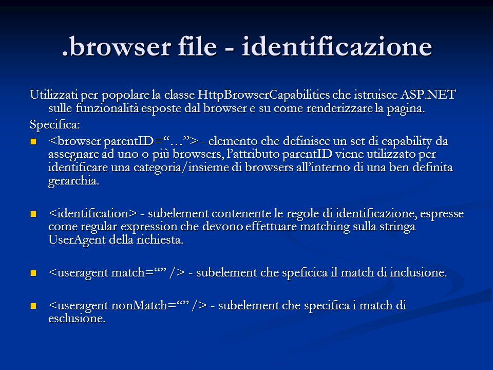 .browser file - identificazione