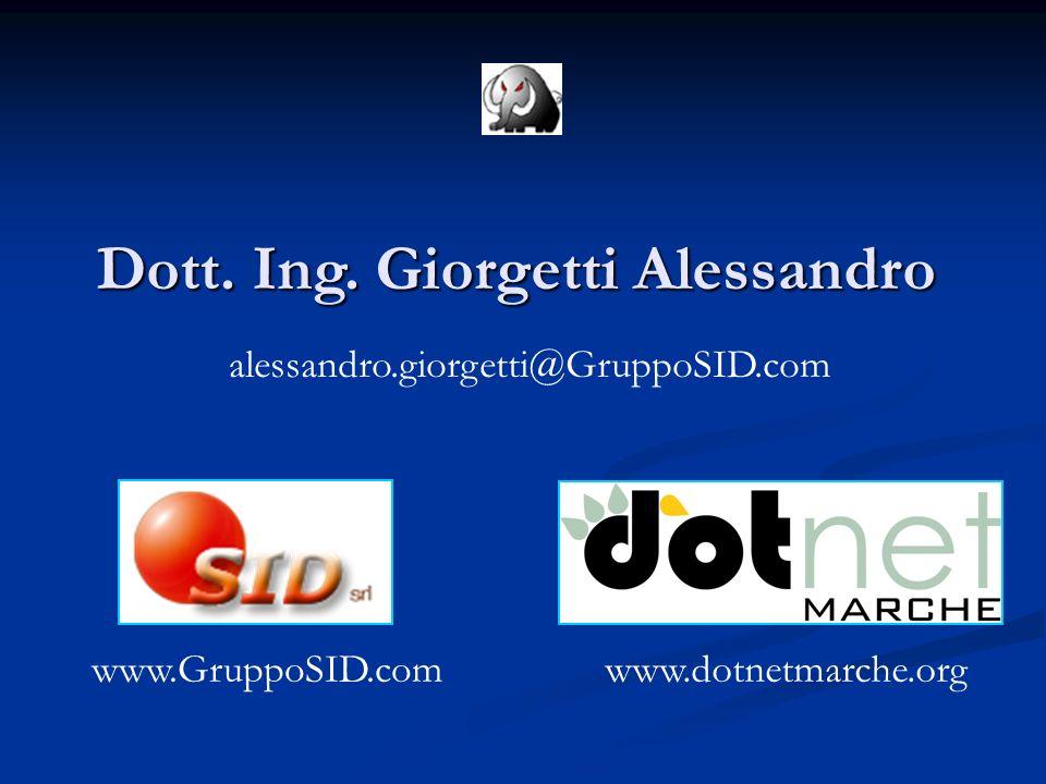 Dott. Ing. Giorgetti Alessandro