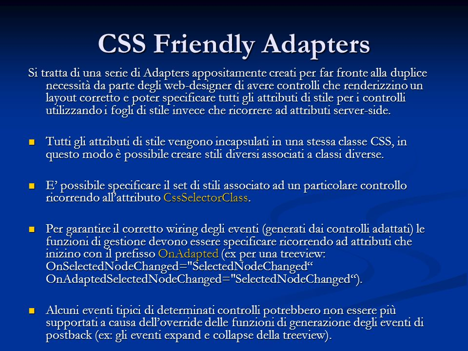 CSS Friendly Adapters
