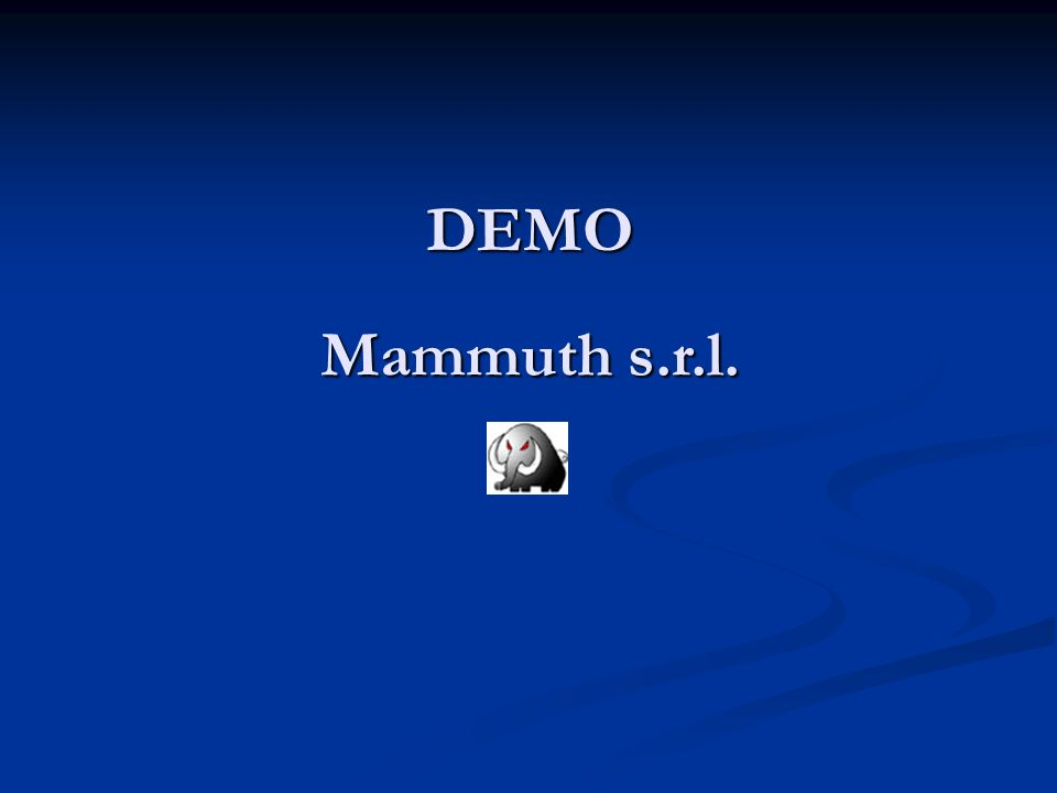 DEMO Mammuth s.r.l.