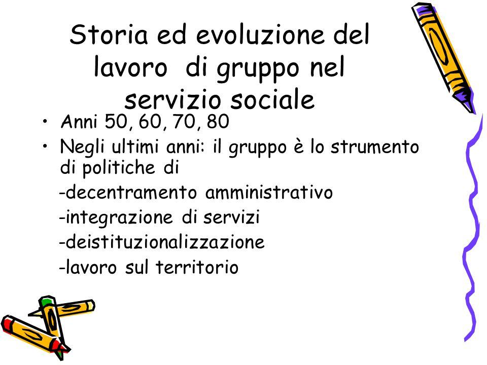 Storia ed evoluzione del lavoro di gruppo nel servizio sociale