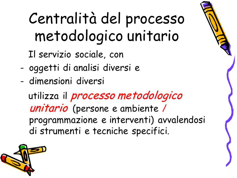 Centralità del processo metodologico unitario
