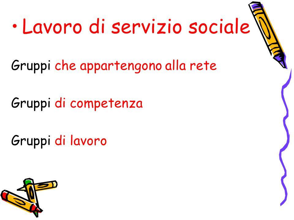 Lavoro di servizio sociale