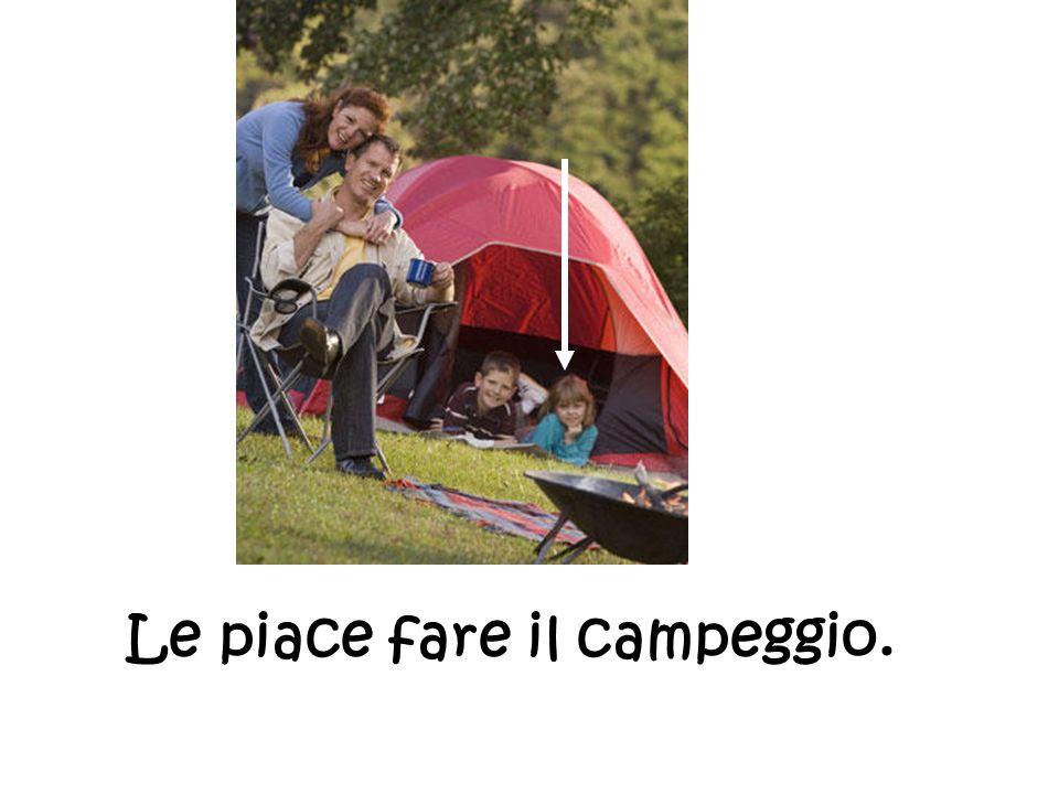 Le piace fare il campeggio.