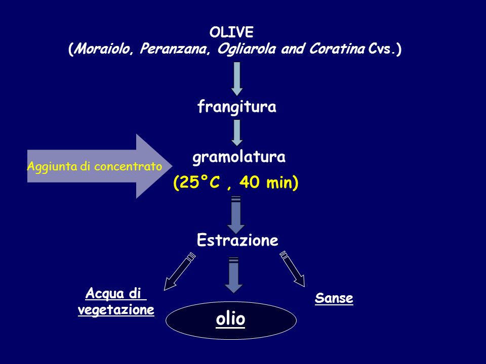 (Moraiolo, Peranzana, Ogliarola and Coratina Cvs.)