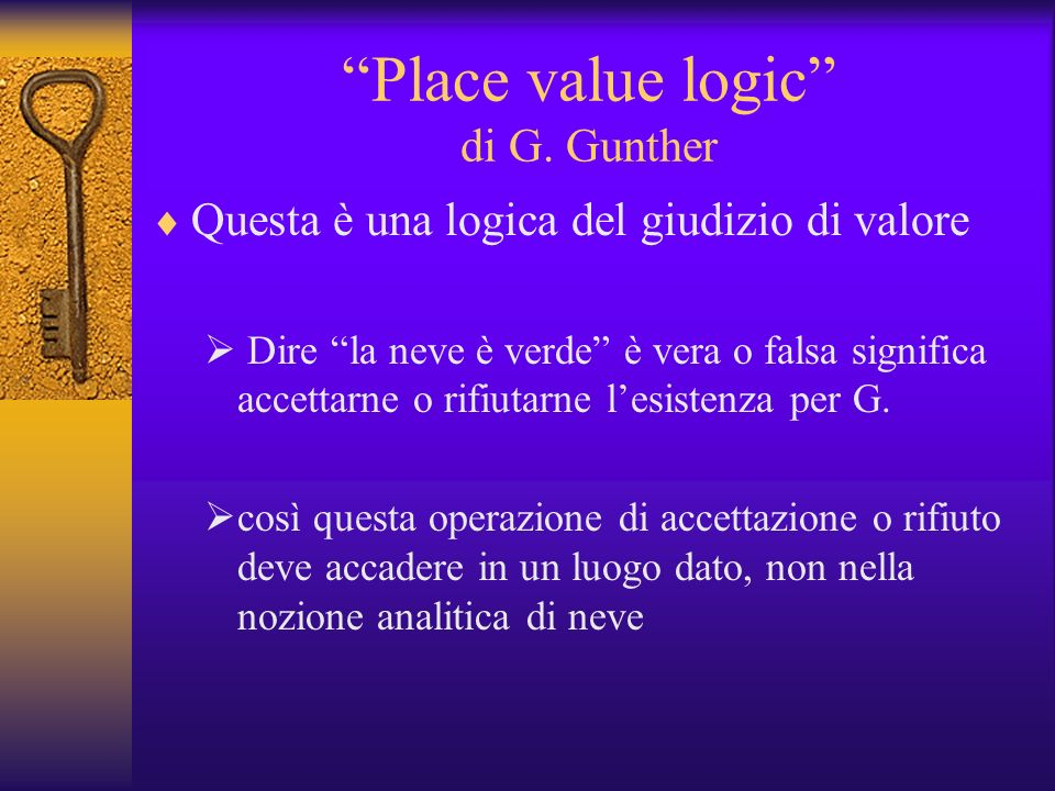 Place value logic di G. Gunther