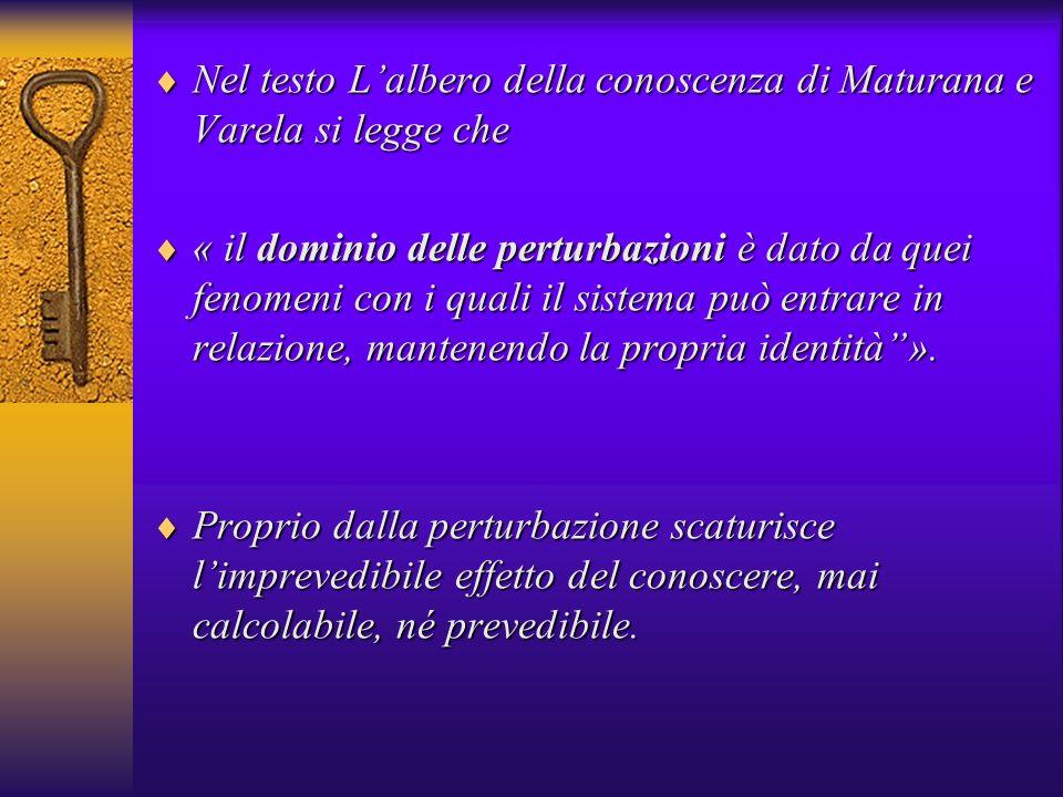 Nel testo L'albero della conoscenza di Maturana e Varela si legge che