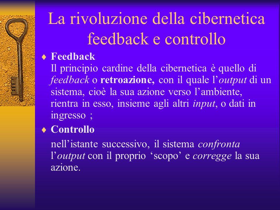 La rivoluzione della cibernetica feedback e controllo
