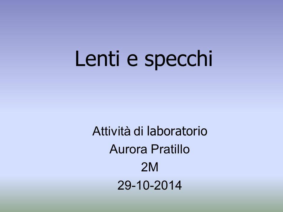 Attività di laboratorio Aurora Pratillo 2M 29-10-2014