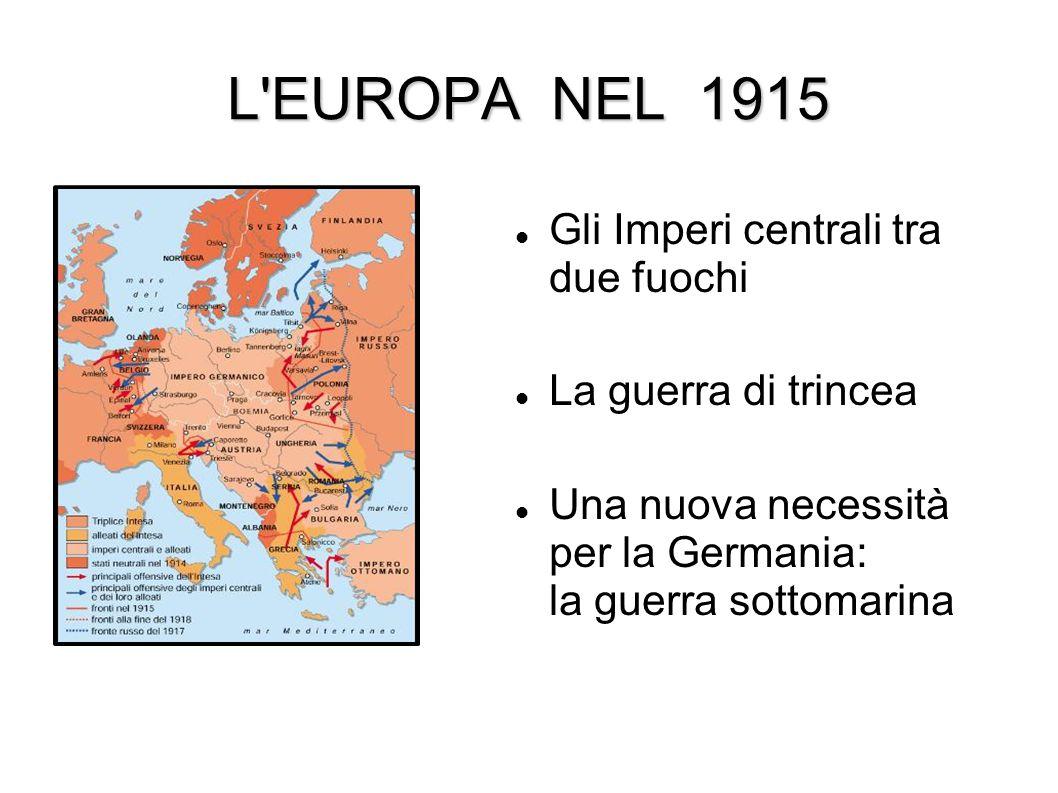 L EUROPA NEL 1915 Gli Imperi centrali tra due fuochi