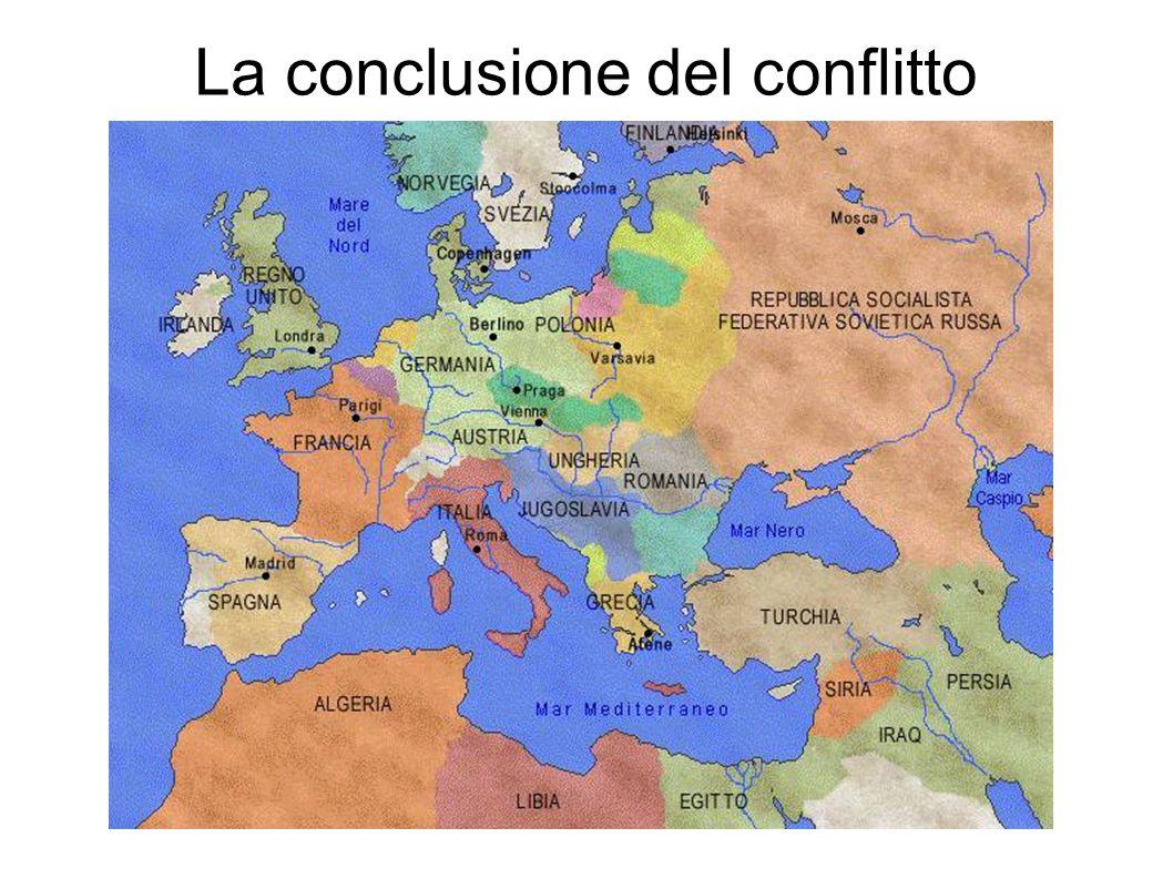 La conclusione del conflitto