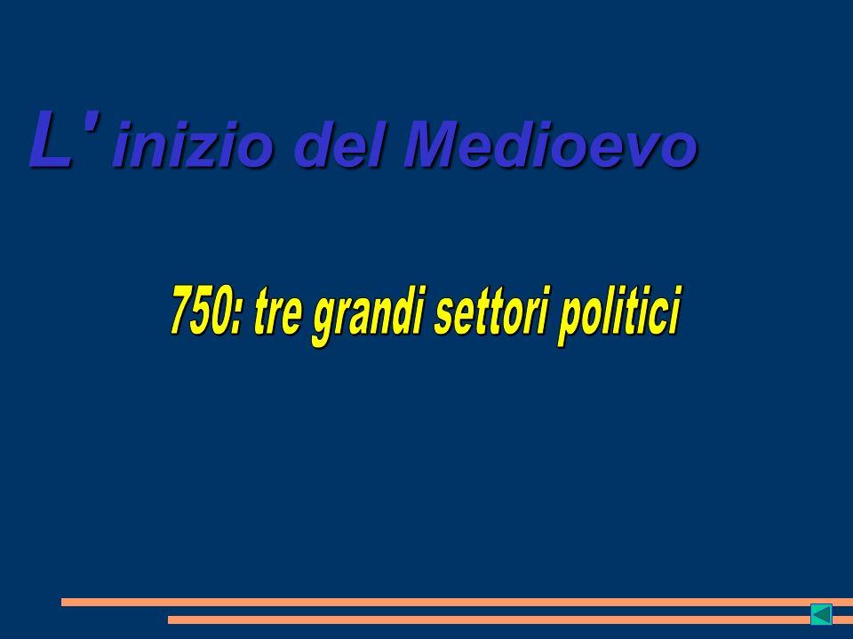 750: tre grandi settori politici