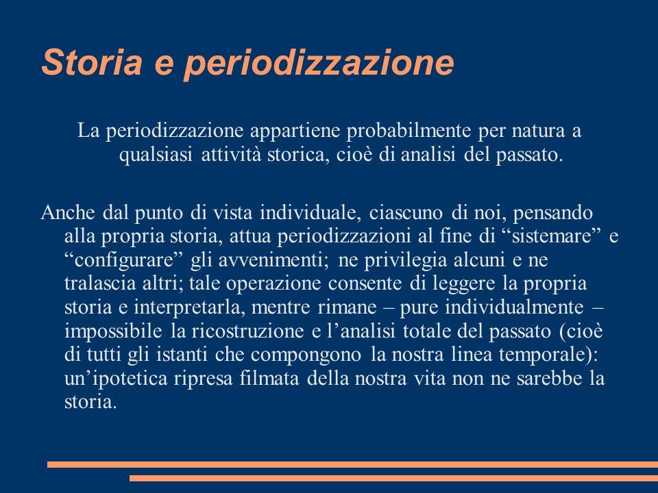 Storia e periodizzazione