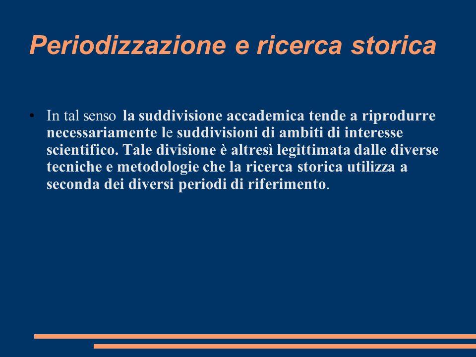 Periodizzazione e ricerca storica