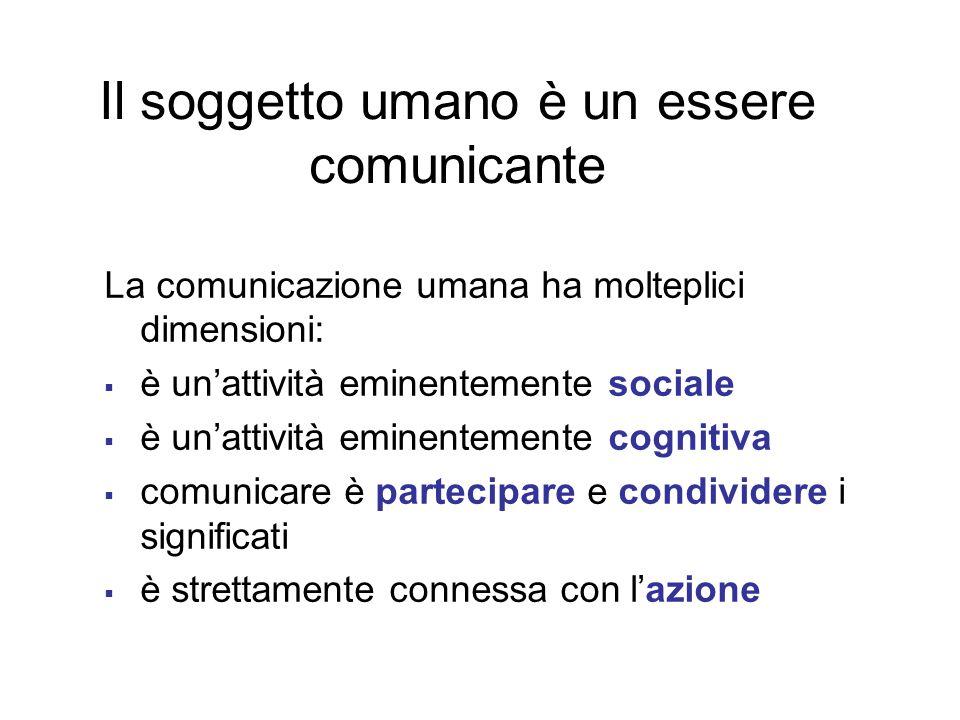 Il soggetto umano è un essere comunicante