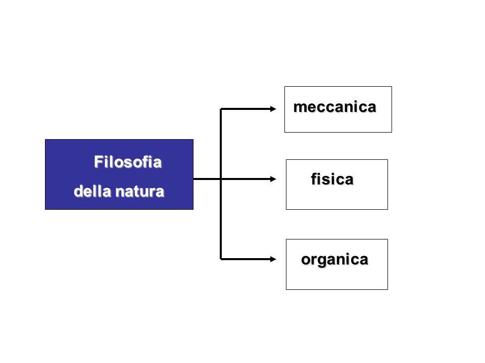 meccanica Filosofia della natura fisica organica