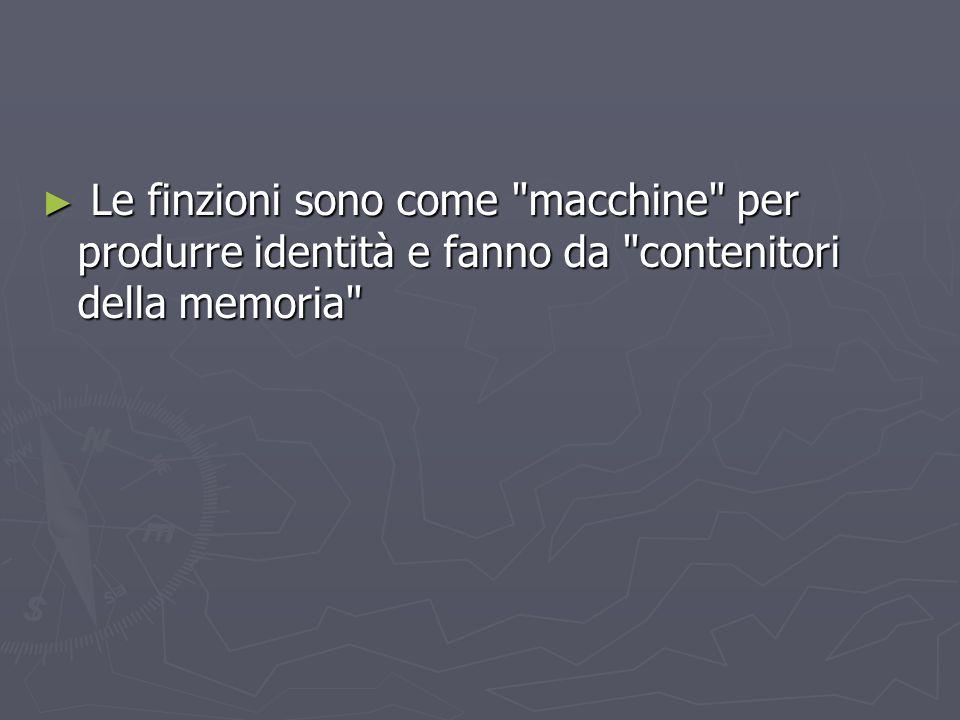Le finzioni sono come macchine per produrre identità e fanno da contenitori della memoria