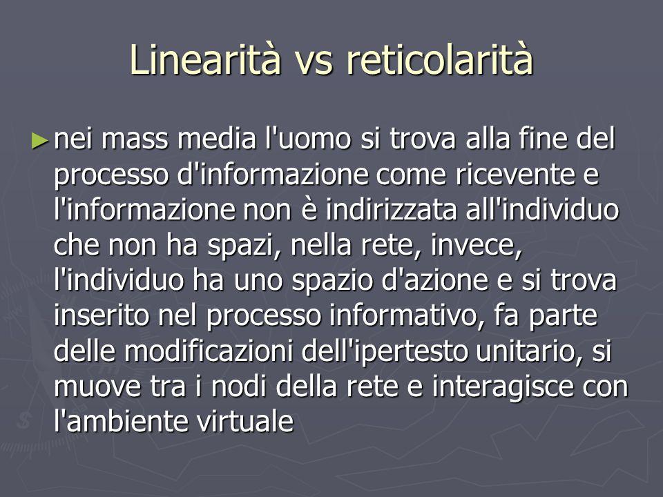 Linearità vs reticolarità