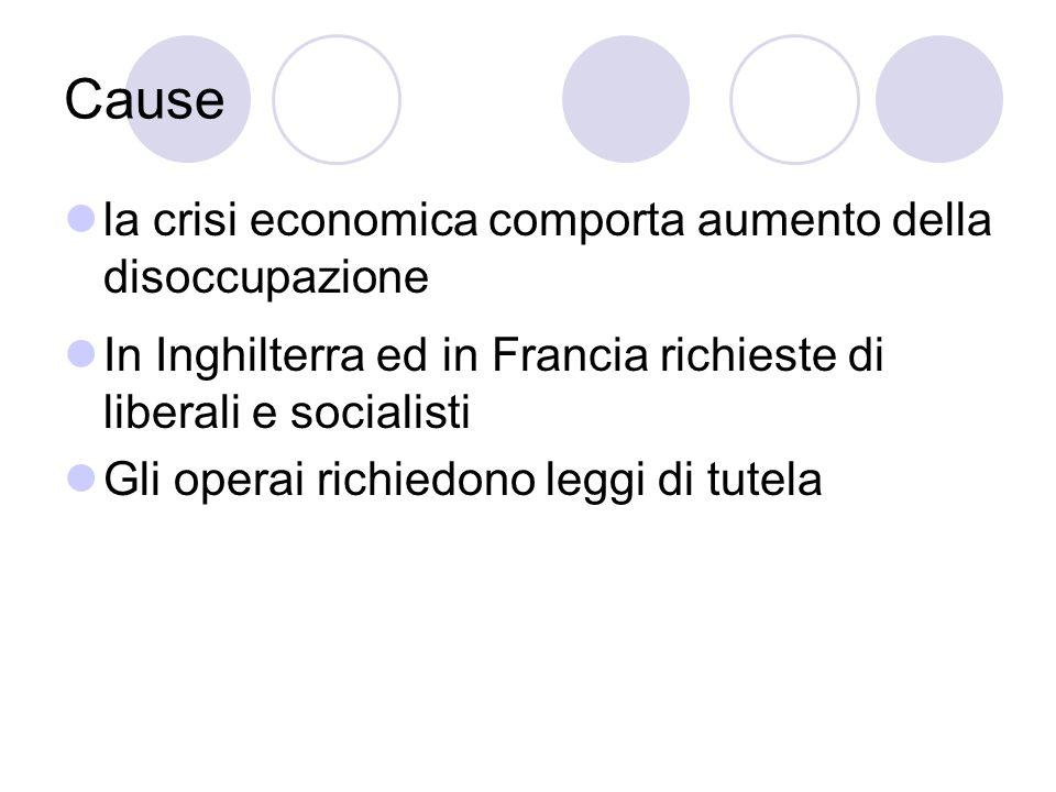 Cause la crisi economica comporta aumento della disoccupazione