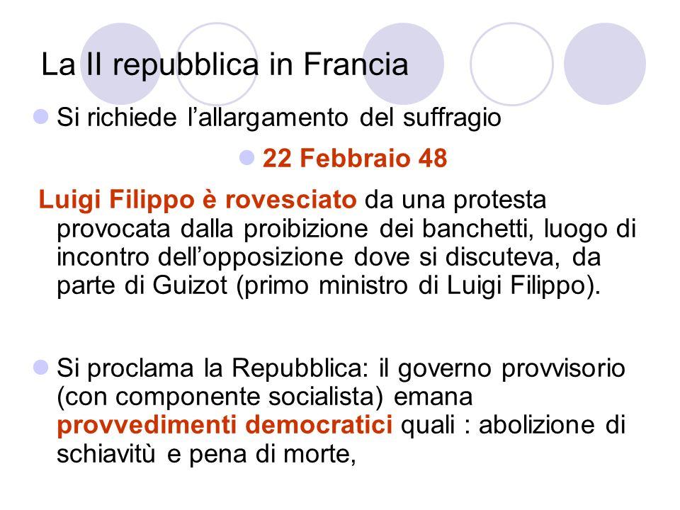 La II repubblica in Francia