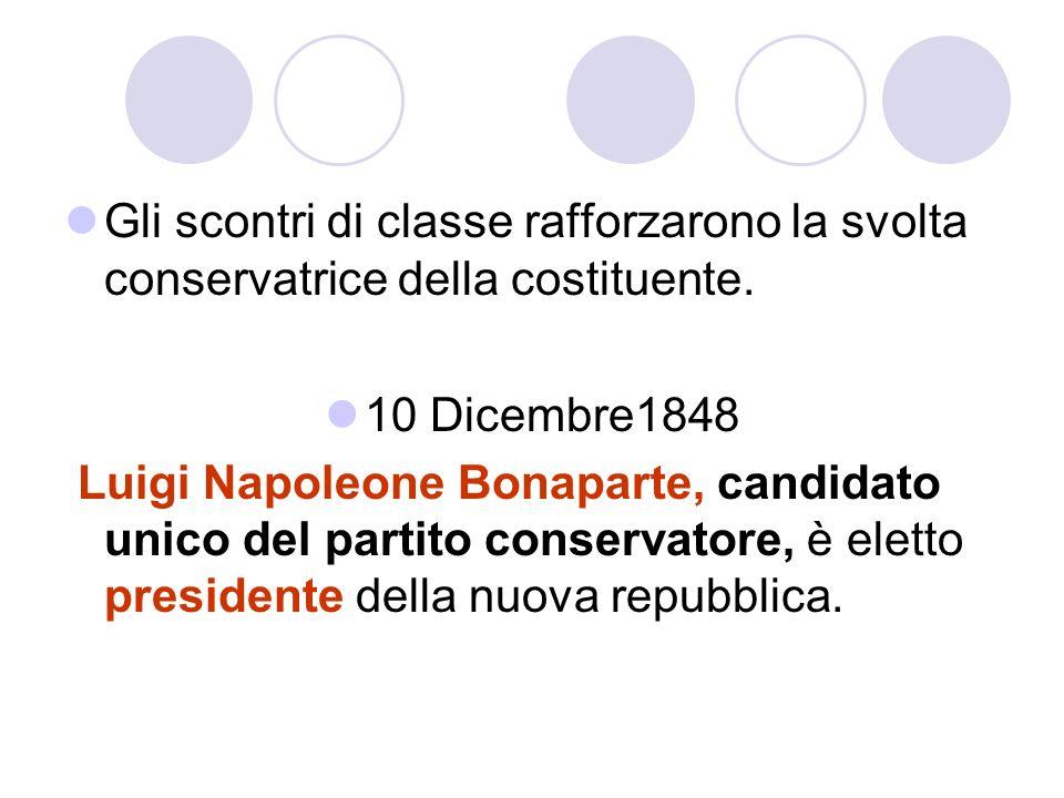Gli scontri di classe rafforzarono la svolta conservatrice della costituente.