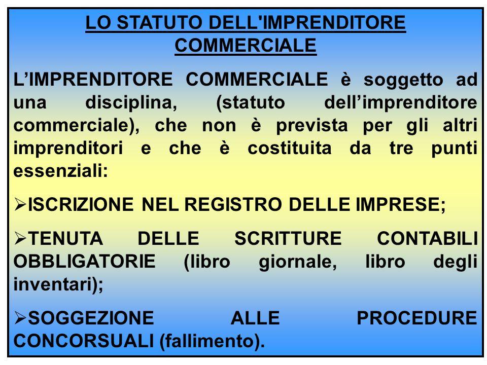 LO STATUTO DELL IMPRENDITORE COMMERCIALE