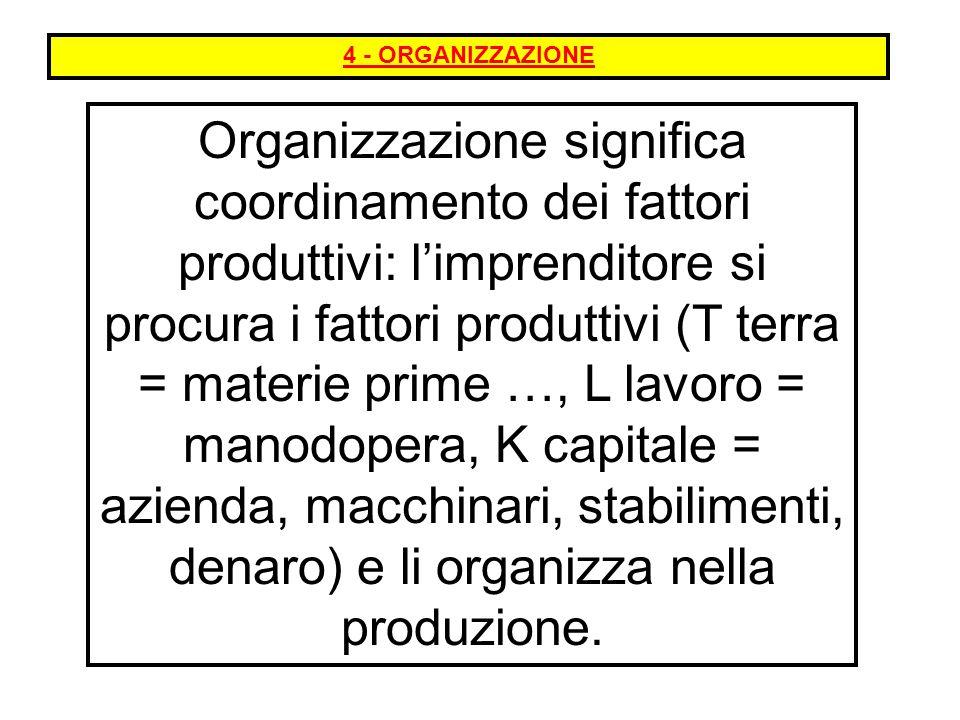 4 - ORGANIZZAZIONE