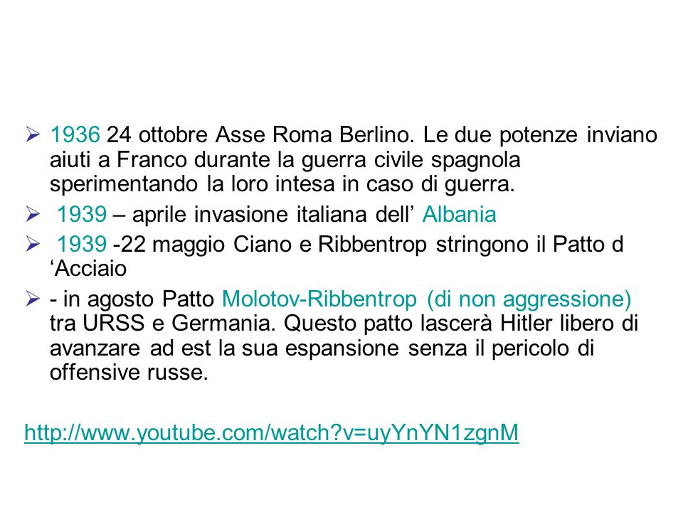 1936 24 ottobre Asse Roma Berlino