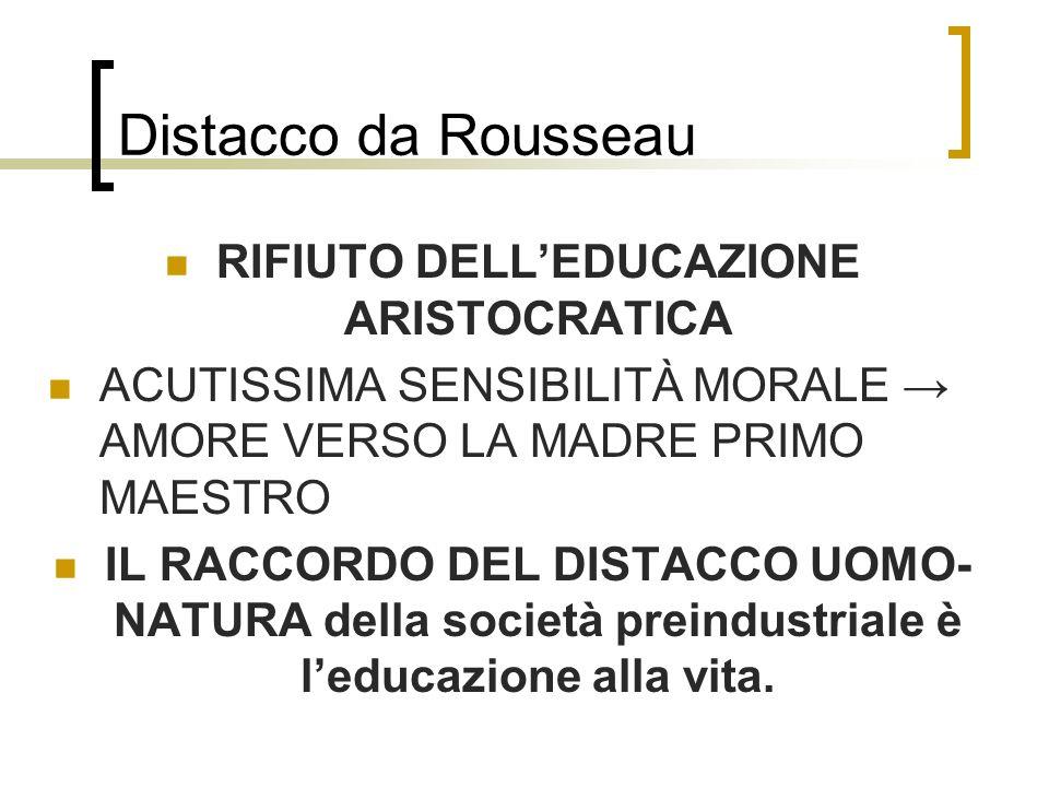 RIFIUTO DELL'EDUCAZIONE ARISTOCRATICA