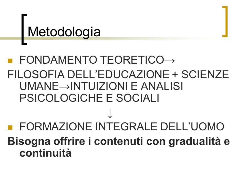 Metodologia FONDAMENTO TEORETICO→