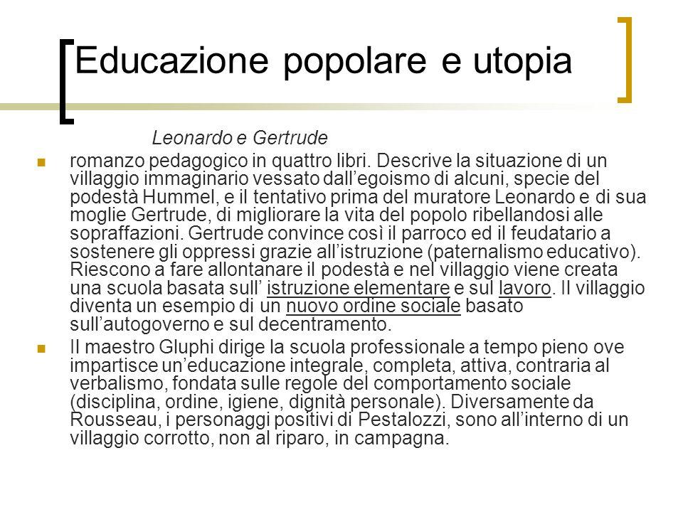 Educazione popolare e utopia
