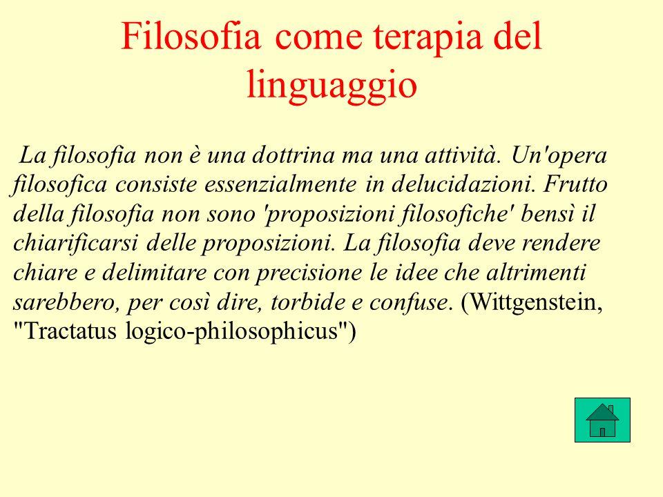 Filosofia come terapia del linguaggio