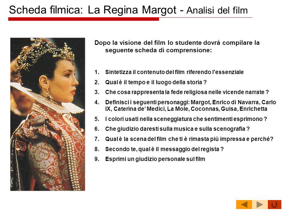 Scheda filmica: La Regina Margot - Analisi del film