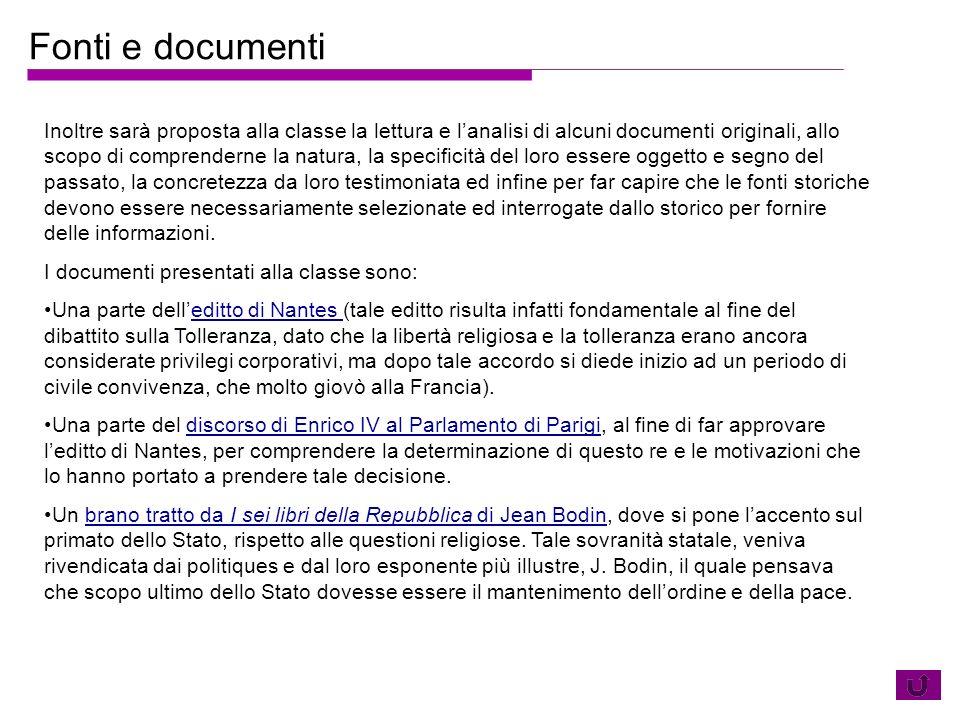 Fonti e documenti
