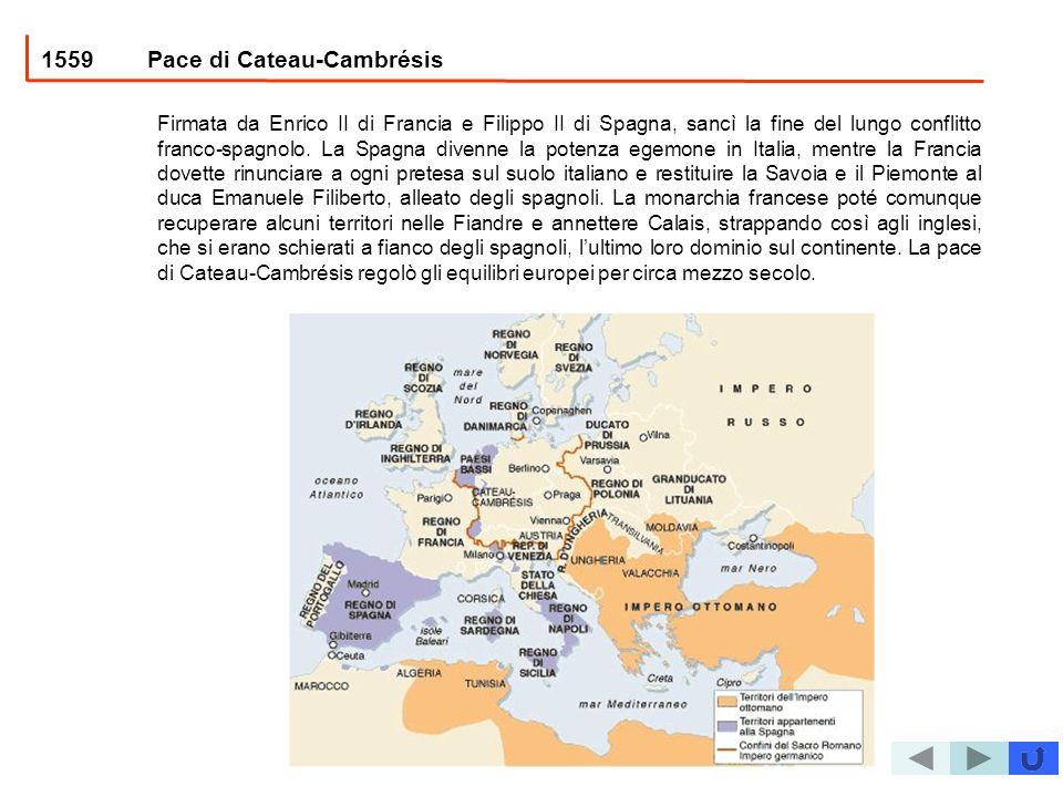 1559 Pace di Cateau-Cambrésis