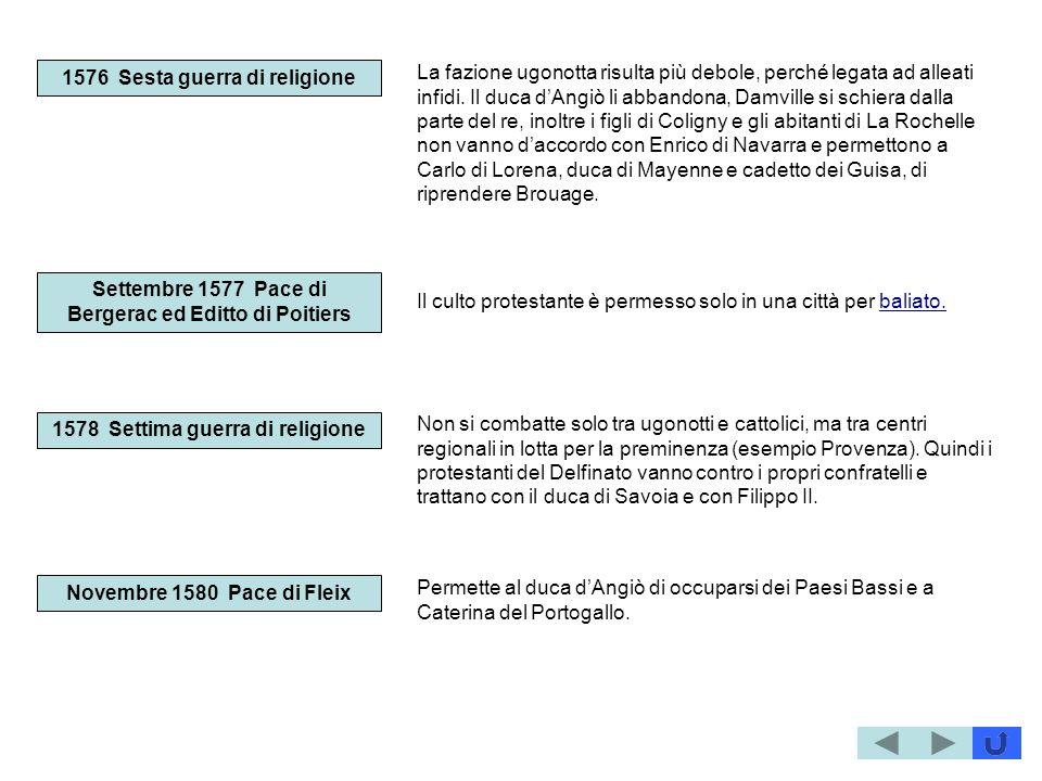 1576 Sesta guerra di religione