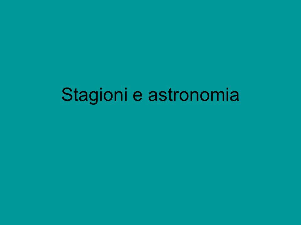Stagioni e astronomia