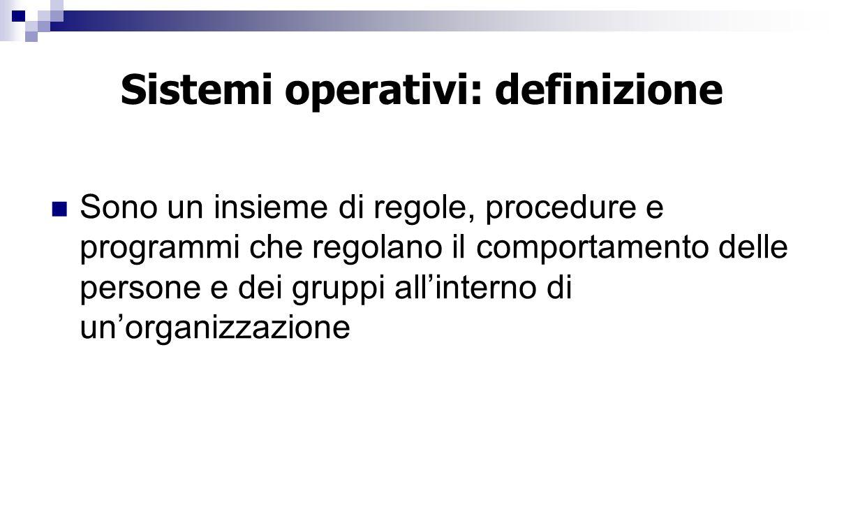 Sistemi operativi: definizione