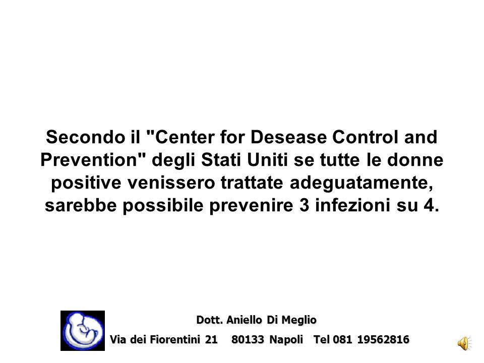 Secondo il Center for Desease Control and Prevention degli Stati Uniti se tutte le donne positive venissero trattate adeguatamente, sarebbe possibile prevenire 3 infezioni su 4.